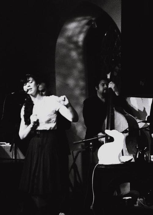 Fom Lisa Hannigan's MySpace, which will make you wish all your friends did B & W photos