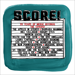 Cover of Score! 20 Years of Merge Records: The Covers! Exclamation points included!